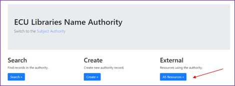 ECU ArchivesSpace Public User Interface name authority functionality